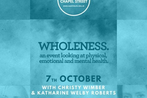 "Wholeness: Katharine Welby-Roberts – Personal Story, ""I Thought There Would Be Cake"""