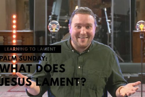 What does Jesus lament?